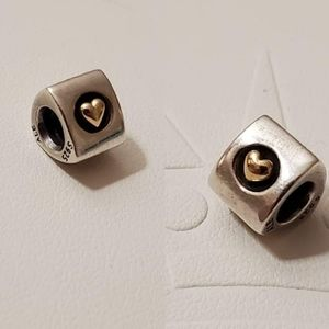Pandora | Heart of Gold Charm 790305